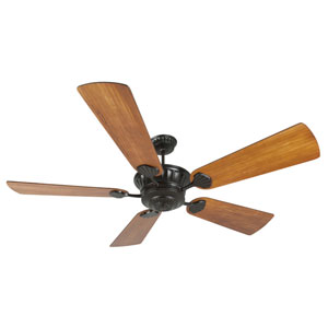 DC Epic Oiled Bronze Ceiling Fan with 70-Inch Premier Hand-Scraped Teak Blades