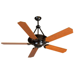 Metro Oiled Bronze Ceiling Fan with 52-Inch Custom Wood Cherry Blades