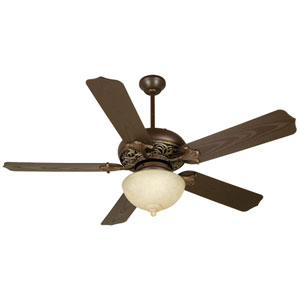 Craftmade Mia Aged Bronze Vintage Madera Ceiling Fan With