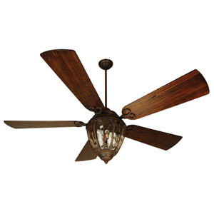 Olivier Aged Bronze Ceiling Fan with 70-Inch Premier Hand-Scraped Walnut Blades