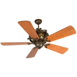 Toscana Peruvian Ceiling Fan with 54-Inch Premier Hand-Scraped Cherry Blades