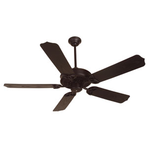 Outdoor Patio Fan Brown Ceiling Fan with 52-Inch Standard Brown Blades