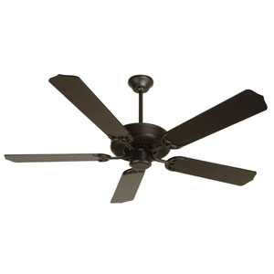 Contractors Design Flat Black Ceiling Fan with 52-Inch Flat Black Blades