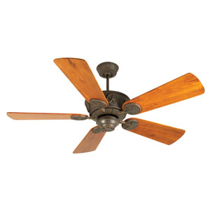 Chaparral Aged Bronze Ceiling Fan with 54-Inch Premier Distressed Teak Blades