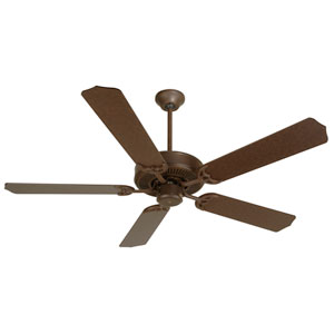 Contractors Design Aged Bronze Ceiling Fan with 52-Inch Aged Bronze Blades