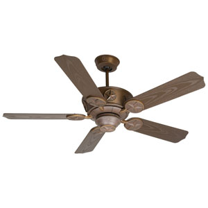 Chaparral Aged Bronze Ceiling Fan with 52-Inch Outdoor Standard Brown Blades