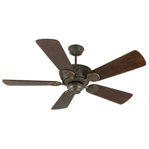 Chaparral Aged Bronze Ceiling Fan with 54-Inch Premier Hand-Scraped Walnut Blades