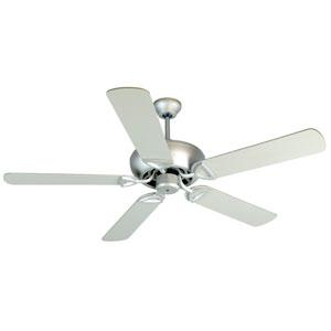 Leeward Brushed Nickel Ceiling Fan with 52-Inch Outdoor Plus Series Brushed Nickel Blades