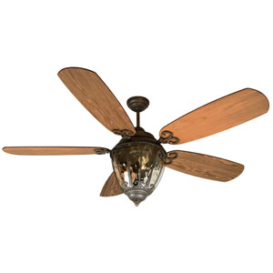 Olivier Aged Bronze Ceiling Fan with 70-Inch Epic Dark Oak Blades