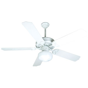 Outdoor Patio Fan White Ceiling Fan with 52-Inch Standard White Light Oak Blades and Bowl Light Kit