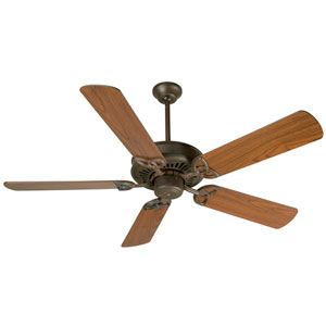 American Tradition Aged Bronze Ceiling Fan with 52-Inch Plus Series Walnut Blades