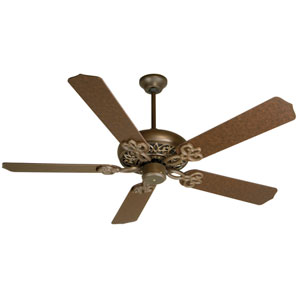 Cecilia Aged Bronze Ceiling Fan with 52-Inch Contractors Design Aged Bronze Blades