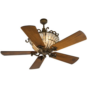 Cortana Peruvian Ceiling Fan with 54-Inch Premier Hand-Scraped Oak Blades