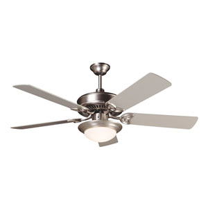 CXL Brushed Nickel Ceiling Fan with 52-Inch Plus Series Brushed Nickel Blades and LED Light Kit
