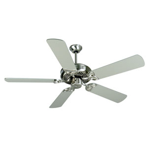 CXL Stainless Steel Ceiling Fan with 52-Inch Plus Series Brushed Nickel Blades