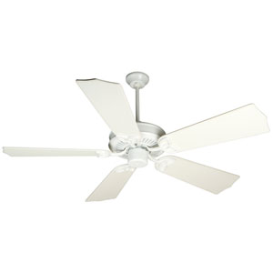 CXL White Ceiling Fan with 56-Inch Custom Carved Traditional Distressed White Blades