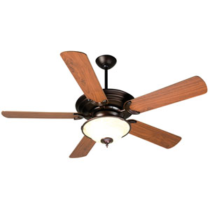 Metro Oiled Bronze Ceiling Fan with 52-Inch Plus Series Walnut Blades and LED Light Kit
