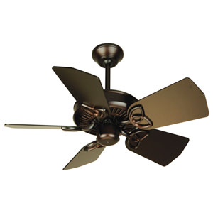 Piccolo Oiled Bronze Ceiling Fan with 30-Inch Piccolo Oiled Bronze Blades