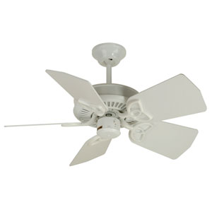 Piccolo White Ceiling Fan with 30-Inch Piccolo White Blades
