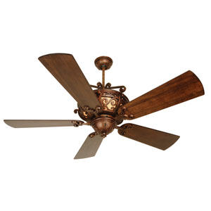 Toscana Peruvian Ceiling Fan with 54-Inch Premier Hand-Scraped Walnut Blades