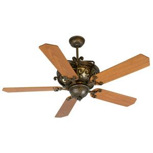 Toscana Peruvian Ceiling Fan with 52-Inch Custom Wood Walnut Blades