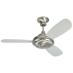 Triumph 3 Stainless Steel Ceiling Fan with 52-Inch Triumph Brushed Nickel Blades and Optional Blank Light Lens Cover