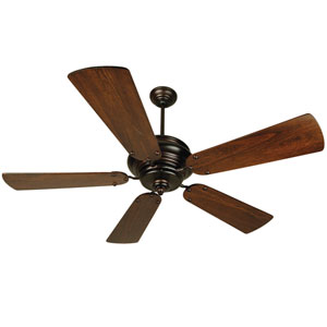 Townsend Oiled Bronze Ceiling Fan with 52-Inch Premier Distressed Walnut Blades