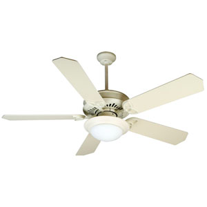 American Tradition Antique White Ceiling Fan with 52-Inch Standard Antique White Blades and LED Light Kit