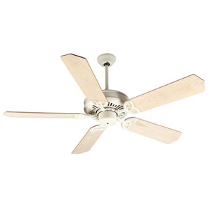 American Tradition Antique White Ceiling Fan with 52-Inch Standard Ash Wood Unfinished Blades