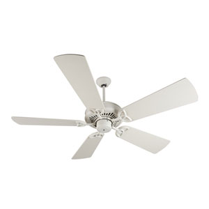 American Tradition Antique White Ceiling Fan with 54-Inch Premier Antique White Blades
