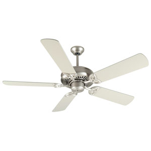 American Tradition Brushed Nickel Ceiling Fan with 52-Inch Plus Series Brushed Nickel Blades
