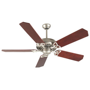 American Tradition Brushed Nickel Ceiling Fan with 52-Inch Standard Rosewood Blades