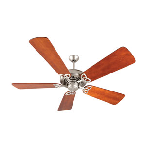 American Tradition Brushed Nickel Ceiling Fan with 54-Inch Premier Distressed Cherry Blades