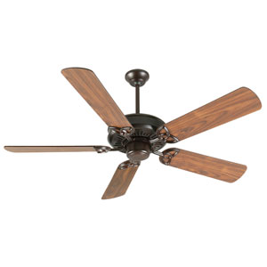 American Tradition Oiled Bronze Ceiling Fan with 52-Inch Plus Series Walnut Blades
