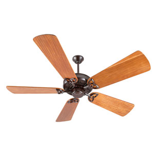 American Tradition Oiled Bronze Ceiling Fan with 54-Inch Premier Hand-Scraped Teak Blades