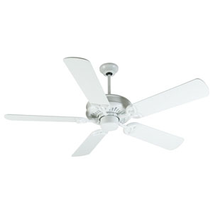 American Tradition White Ceiling Fan with 52-Inch Plus Series White Blades