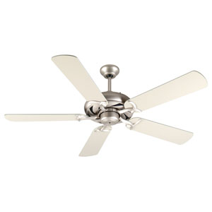Civic Brushed Nickel Ceiling Fan with 52-Inch Plus Series Brushed Nickel Blades