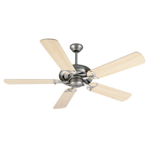 Civic Brushed Nickel Ceiling Fan with 52-Inch Plus Series Maple Blades
