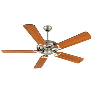 Civic Brushed Nickel Ceiling Fan with 52-Inch Plus Series Cherry Blades