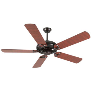 Civic Oiled Bronze Ceiling Fan with 52-Inch Plus Series Rosewood Blades