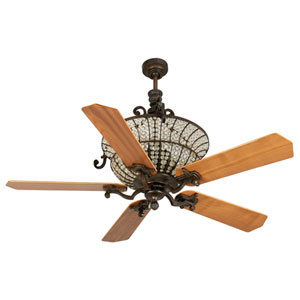 Cortana Peruvian Ceiling Fan with 52-Inch Custom Wood Walnut Blades