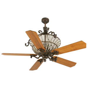 Cortana Peruvian Ceiling Fan with 52-Inch Custom Wood Teak Blades