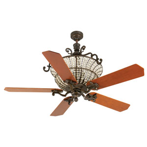 Cortana Peruvian Ceiling Fan with 52-Inch Custom Wood Cherry Blades