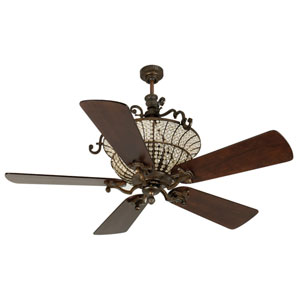 Cortana Peruvian Ceiling Fan with 54-Inch Premier Distressed Walnut Blades
