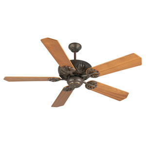 Cordova Aged Bronze Ceiling Fan with 52-Inch Custom Wood Walnut Blades