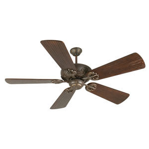 Cordova Aged Bronze Ceiling Fan with 54-Inch Premier Hand-Scraped Walnut Blades