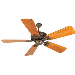 Cordova Aged Bronze Ceiling Fan with 54-Inch Premier Hand-Scraped Teak Blades