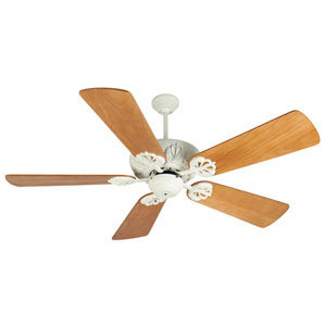 Cordova Antique White Ceiling Fan with 54-Inch Premier Distressed Oak Blades