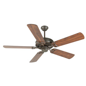 CXL Aged Bronze Ceiling Fan with 52-Inch Plus Series Walnut Blades