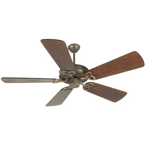 CXL Aged Bronze Ceiling Fan with 54-Inch Premier Hand-Scraped Walnut Blades